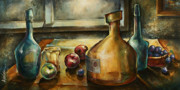 Jugs Painting Prints - Twilight Print by Michael Lang
