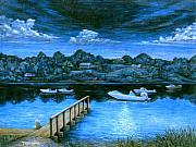 Boats Art - Twilight on Taylor by Tanja Ware