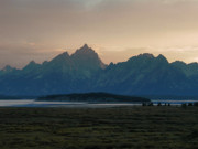 Dusky Prints - Twilight on the Grand Teton Range Print by The Forests Edge Photography