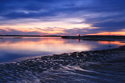 Massachusetts Art - Twilight over Tidal Flats Salisbury Beach State Reservation by John Burk