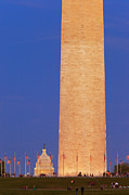 Washington Monument Photos - Twilight over Washington DC by Brian Jannsen