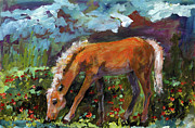 Twilight Pony In Protest Of H.r. 2112 Painting Print by Ginette Fine Art LLC Ginette Callaway