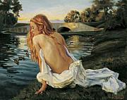 Young Woman Originals - Twilight Reflection by Jean Hildebrant