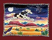 Pinto Horse Paintings - Twilight Ride by Harriet Peck Taylor