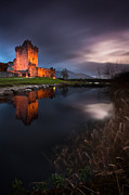 Derek Smyth Framed Prints - Twilight Ross Castle Framed Print by Derek Smyth