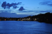 Boathouse Row Philadelphia Prints - Twilight Row Print by Andrew Dinh