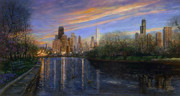 Willis Tower Framed Prints - Twilight Serenity Framed Print by Doug Kreuger