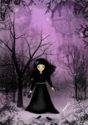 Goth Girl Digital Art - Twilight Time by Charlene Zatloukal