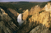 Twilight View Of Lower Yellowstone Print by Michael S. Lewis