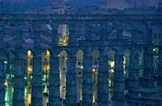 Featured Acrylic Prints - Twilight View Of The Roman Aqueduct Acrylic Print by James L. Stanfield