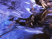Tom Biegalski Metal Prints - Twilight waterfall abstract Metal Print by Tom Biegalski