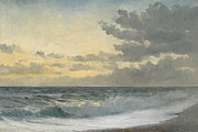 Beach View Prints - Twilight Print by William Pye