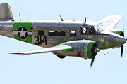 Shows Posters - Twin Beech C-45 Expeditor . 7d15396 Poster by Wingsdomain Art and Photography
