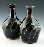 Bottles Ceramics - Twin Bottles by Alejandro Sanchez