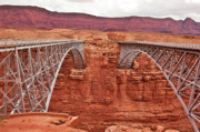 Red Rock Crossing Prints - Twin Bridges Print by Steven Love