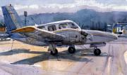 Plane Painting Originals - Twin Engine by Donald Maier