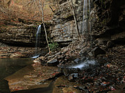 Richland Creek Wilderness Prints - Twin Falls  Print by Matthew Parks