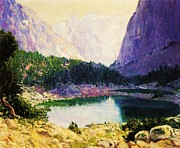 High Sierra Metal Prints - Twin Lakes High Sierra Metal Print by Pg Reproductions