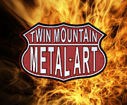 Lost-wax Casting Art - Twin Mountain Metal Art by Hank Bagrowski