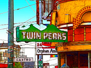 Sketch Digital Art - Twin Peaks Bar in San Francisco by Wingsdomain Art and Photography