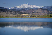 Colorado Prints Prints - Twin Peaks McCall Reservoir Reflection Print by James Bo Insogna