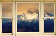 Forsale Prints - Twin Peaks Meek and Longs Peak Window View Print by James Bo Insogna