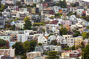 Residential Structure Framed Prints - Twin Peaks Neighborhood, San Francisco, California, Usa Framed Print by Jose Luis Stephens