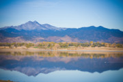 Rocky Mountains Framed Prints Framed Prints - Twin Peaks Reflection Framed Print by James Bo Insogna