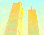 Twin Towers World Trade Center Digital Art Metal Prints - Twin Towers Metal Print by Dmitriy Shvets