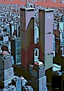 Twin Towers World Trade Center Digital Art Metal Prints - Twin Towers Metal Print by George Pedro