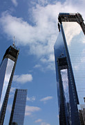 Twin Towers World Trade Center Prints - Twin Towers Print by Kristin Elmquist
