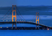 Mackinac Bridge Prints - Twin Towers of Northern Michigan Print by Twenty Two North Photography