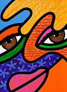 Abstract Faces Posters - Twinkle in Her Eye Poster by Steven Scott
