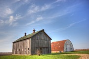 Illinois Barns Prints - Twins Print by David Bearden