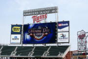 Minnesota Twins Photos - Twins Home Opener 2010 by Ron Read