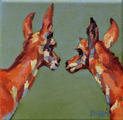 Game Painting Prints - Twins Print by Patricia A Griffin