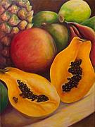Papaya Prints - Twins Print by Shannon Grissom