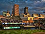 Minnesota Twins Prints - Twins Stadium Print by Laurie Prentice