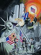 2001. World Trade Center. Paintings - TwinTowers by Christiaan Bekker