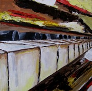 Piano Keys Painting Originals - Twisted 88 pt 2 by Ami Brown