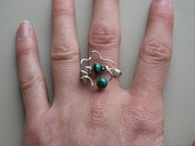 Malachite Jewelry - Twisted Malachite Ring by Naomi Mountainspring