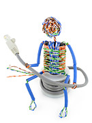 Twisted Man From A Computer Cable Print by Aleksandr Volkov