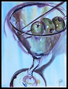 Party Paintings - Twisted Martini  by Jami Childers