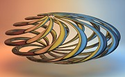 3d Digital Art Prints - Twisted Reflections Print by Louis Ferreira
