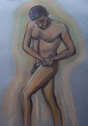 Twisting Male Figure Print by Cj
