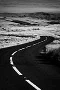 Bends Posters - Twisty Bendy Antrim Coastal Road Route Over Mountains On The Antrim Plateau County Antrim Poster by Joe Fox