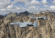 Sawtooth Mountains Metal Prints - Two A-10 Thunderbolts Fly Metal Print by HIGH-G Productions