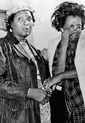 Two African American Women Stand Print by Everett