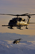 Two Alaska Air National Guard Hh-60g Print by Stocktrek Images
