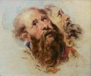 Peter Paul (1577-1640) Paintings - Two Apostles by Rubens